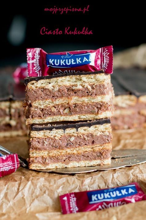 mojprzepisna.pl | Ciasto Kukułka Od jakiegoś czasu chodziło za mną ciasto z kremem. Chodziło, chodziło i wychodziło. To ciasto jest pełne kremu. Jednocześnie jest dość słodkie, bardzo, bardzo kalor…