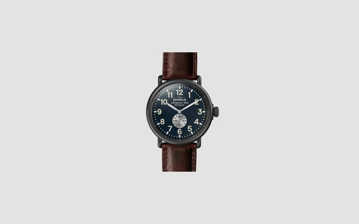 The Shinola Runwell Watch is a traditionally inspired timepiece that is timeless and classic, designed to be worn by anyone who appreciates the classic style of watchmaking and the modern design that is incorporated into it. It is a large and robust watch with easy-to-read hour and minute indicators. The large case is made out of stainless steel that is built to stand the test of time. The timepiece has been given a sandblasted PVD gunmetal finish that provides a striking appearance right…