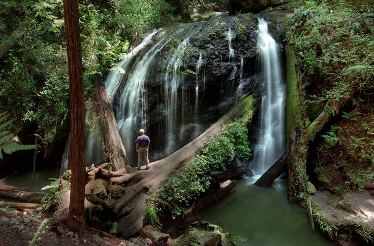 A waterfall awaits those who hike the easy 3.3 mile falls loop trail in Russian Gulch State Park just north of the town of Mendocino. John Burgess
