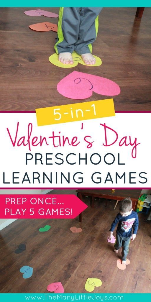 5-in-1 Valentine's studying recreation for preschoolers