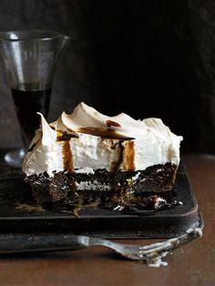 coffee meringue brownie from donna hay