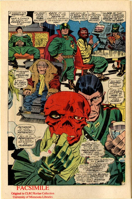 The Red Skull & friends by Jack Kirby
