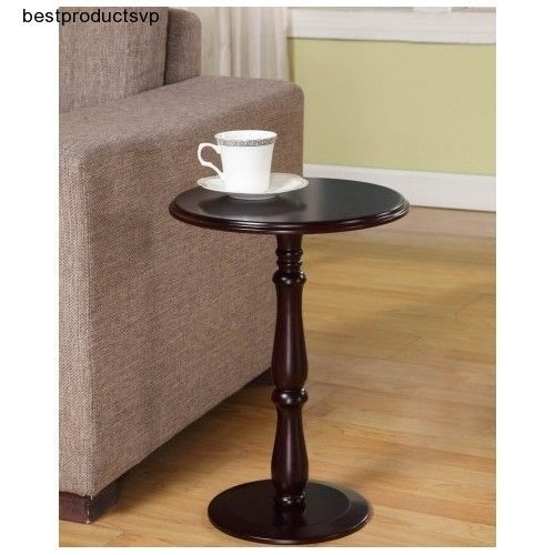#Ebay #Cherry #Pedestal #Table #Round #Wood #Modern #End #Accent #Side #Small #Decorative #Sofa  #KingsBrand #Contemporary
