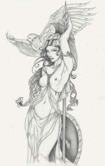 Exposed Athena tattoo