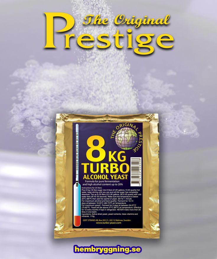 Vår näst mest sålda turbojäst efter Turbo Pure 48, ger 18% alkohol. Ej temperaturtolerant så max 25 kg per jäsning.