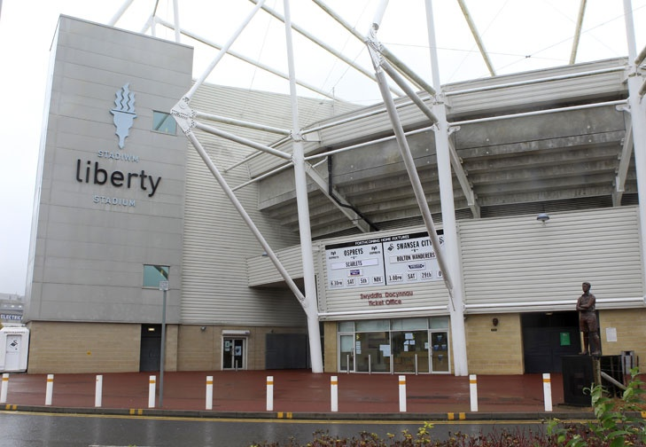 Swansea Liberty Stadium, home to Swansea City Football Club and the Ospreys (Swansea/Neath Rugby Club). #swansea #icws #internationalstudy #education #wales #football #premierleague #rugby http://www.premierleague.com