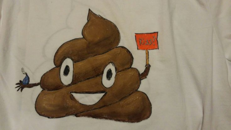 Poop emoji t shirt for Kayley