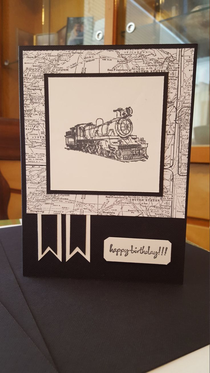 Train Lover Birthday Card by SimoneSaysCardShop on Etsy