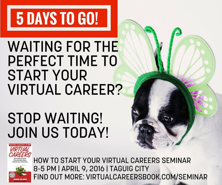 6 DAYS TO GO!    Waiting for the perfect time to start your Virtual Career?    Stop waiting! Join us TODAY!     How To Start Your Virtual Careers Seminar on April 9, 2016 in Taguig.    Get Regular (Solo): http://jhilario.com/startseminarregular    Get Premium (Solo): http://jhilario.com/startseminarpremium    Get Recording: https://www.paypal.com/cgi-bin/webscr?cmd=_s-xclick&hosted_button_id=CYNMM4HYYMCC4    Want to pay via bank?  Deposit your payment to:   BDO Savings Account   Account…