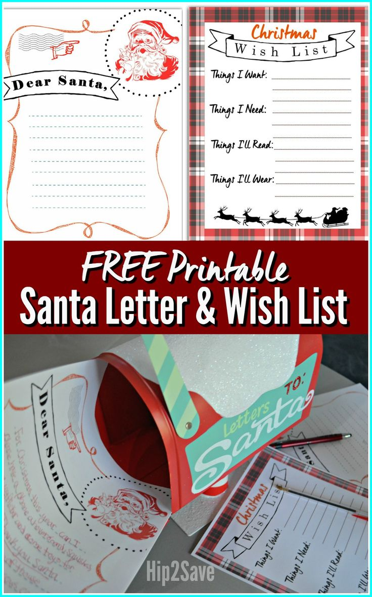 Have your kids write a letter to Santa and create a Christmas Wish List with these adorable FREE Christmas Printables!