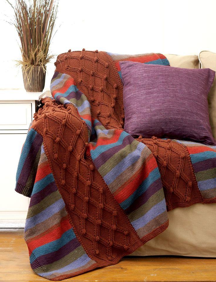 91 Best Knitting Afghan Images On Pinterest Knit Blankets