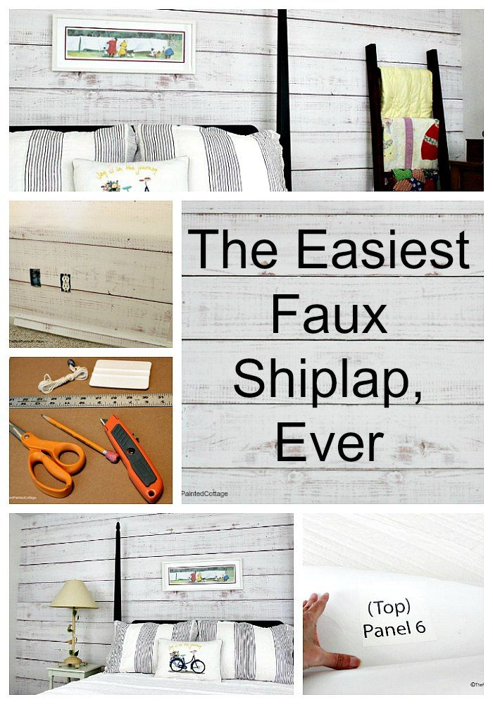 The Easiest Faux Shiplap, Ever