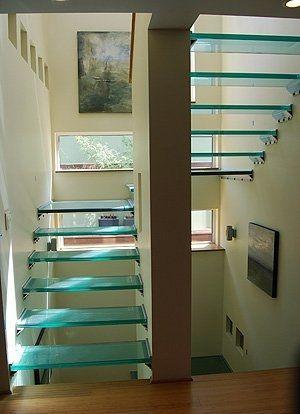 Die besten 25+ Glastreppen Ideen auf Pinterest - unter der treppe wohnideen