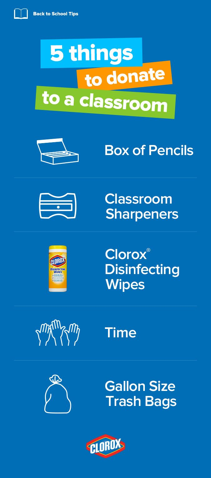 A few extra school supplies for your child's classroom goes a longway. See how you can help by donating items for a healthier andmore productive classroom.