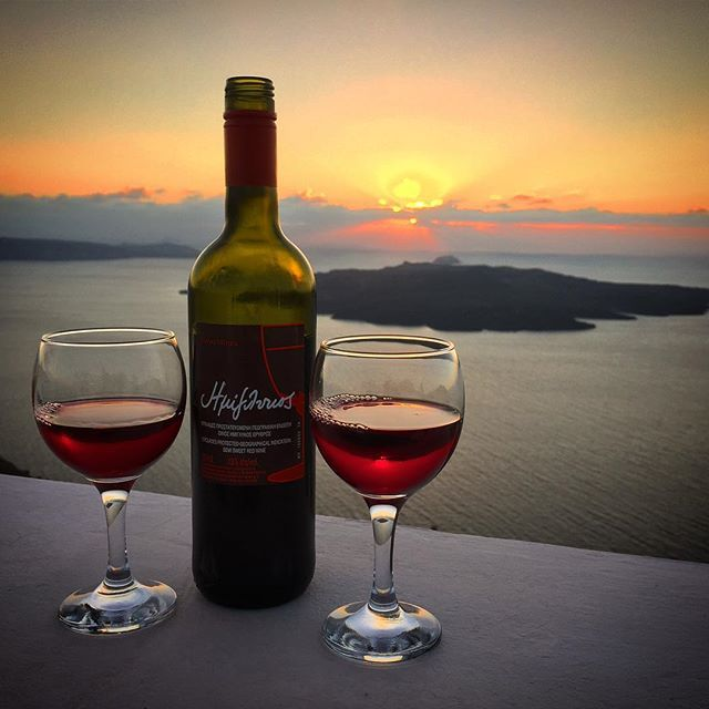 Magical! #Wine #Santorini Photo credits: @vdawg1115