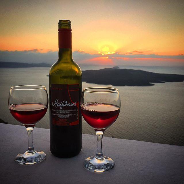 Magical! #Wine #Santorini Photo credits: @vdawg1115