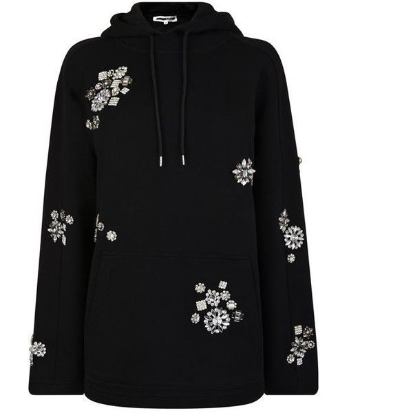 Mcq Alexander Mcqueen Slouchy Embellished Sweatshirt ($500) ❤ liked on Polyvore featuring tops, hoodies, sweatshirts, long sleeve sweatshirts, embellished top, long sleeve tops, slouchy tops and patch sweatshirt