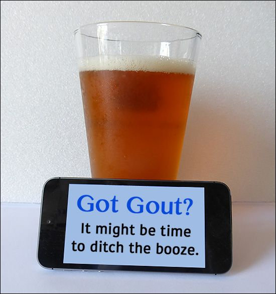 Beer, Alcohol, and Wine can contribute to Gout symptoms
