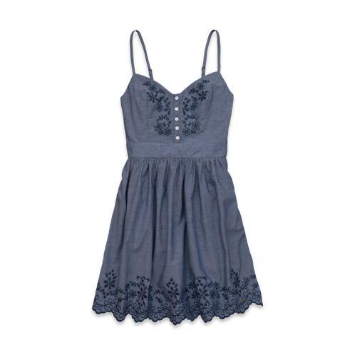 Hollister Dresses 2013 | New Hollister Denim Dress Bay Street Chambray Dress Summer 2013 Dress ...