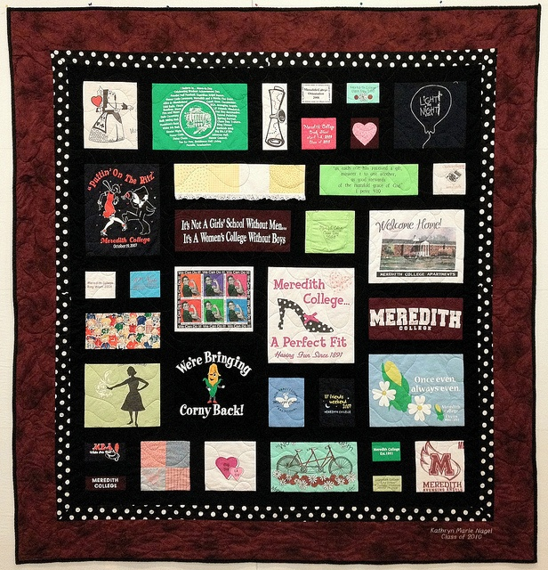 Patchwork Memories Shirt Quilts: Nancy's Custom T-Shirt Quilt By Patchwork Memories, Via