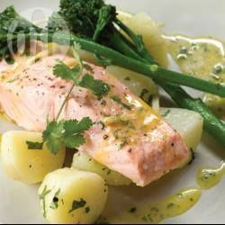 Citrus Salmon with Chat Potatoes