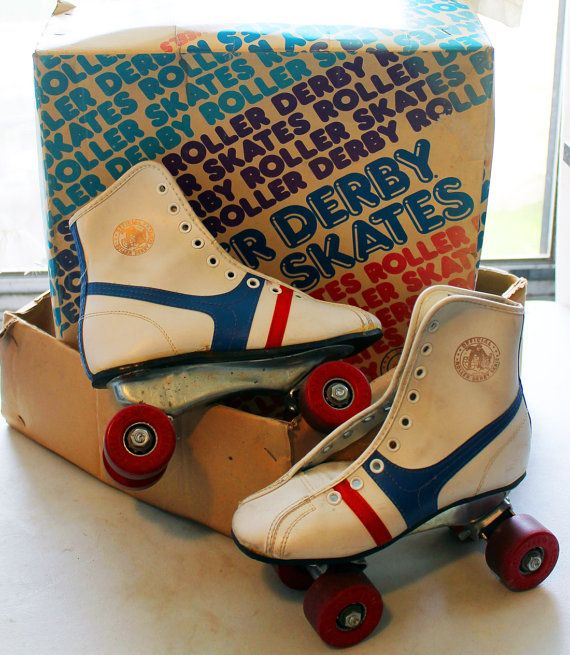 Roller Derby ROLLER SKATES 1970s Girls size by thetrashyvictorian, $30.00