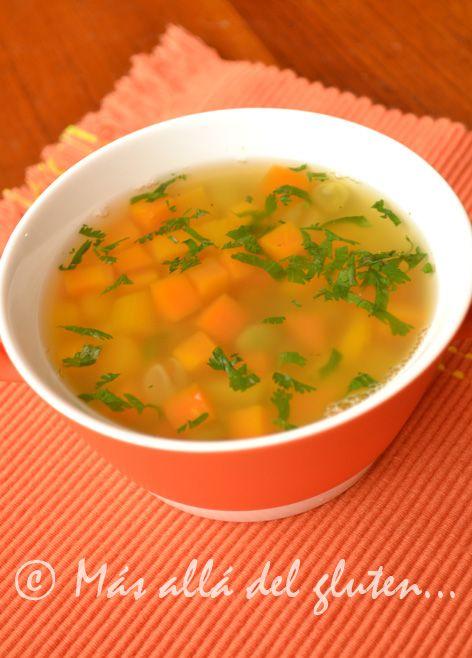 Más allá del gluten...: Sopa Fácil con Cuadritos de Verduras (Receta SCD, GFCFSF, Vegana)
