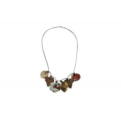 A necklace of ivy and nasturtium leaves