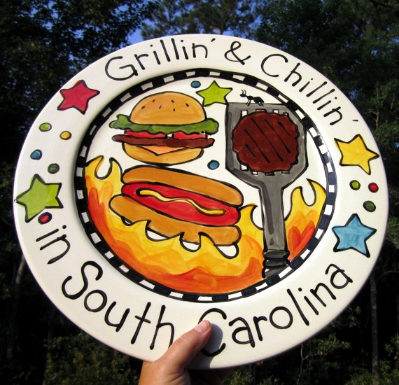 CUSTOM 15\  Family Platter Personalized any theme you can think of & 56 best Grill Plates \u0026 Platters images on Pinterest | Grill plate ...