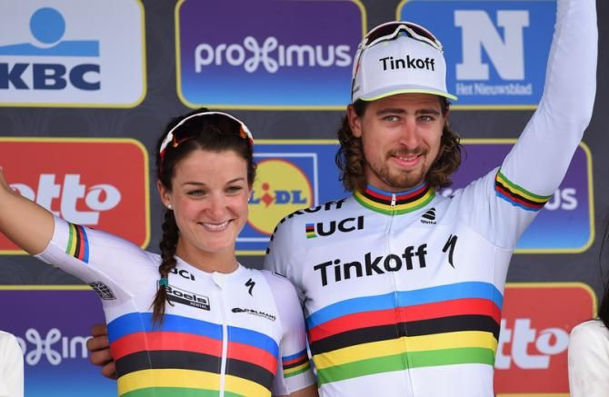 World champions and 2016 Tour of Flanders champions, Lizzie Armitstead and Peter Sagan