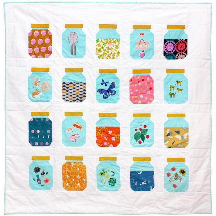 Treasure jar quilt. Would be great using I-spy fabrics!