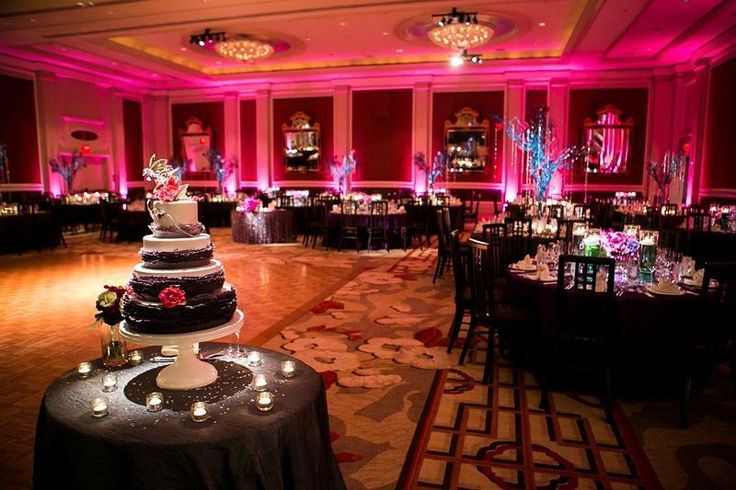 Spectacular reception with gorg touch of #uplight lighting  #cakespotlight! Great photo via #unitedwithlove