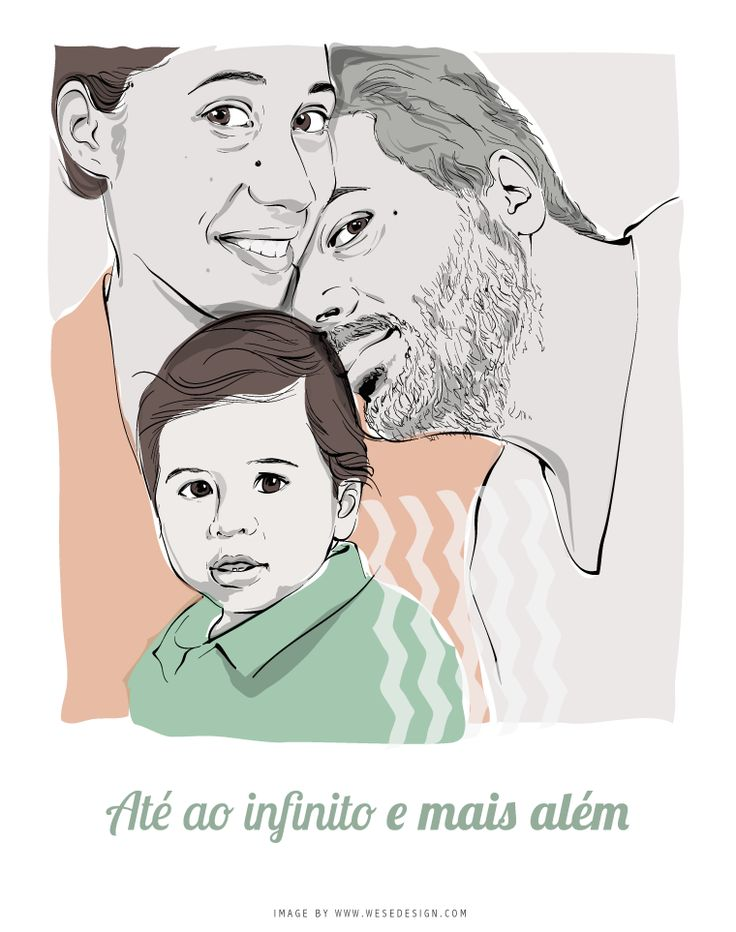 #illustration #family #digital art  Pin from wesedesign.com