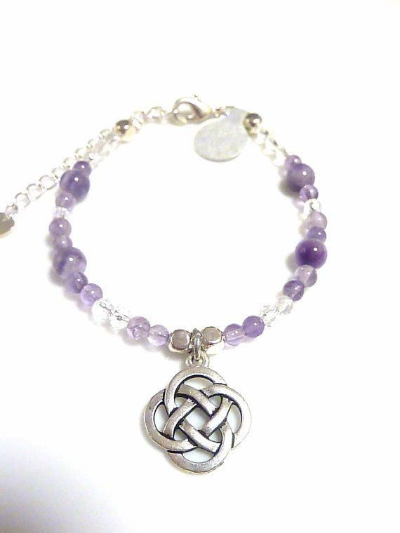 Amethyst and Clear Quartz Bracelet with a by MystiqueCrystal, $17.00