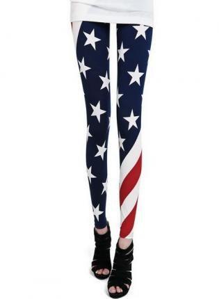 Multi Leggings/Tights - American Flag Print Skinny Leggings | UsTrendy