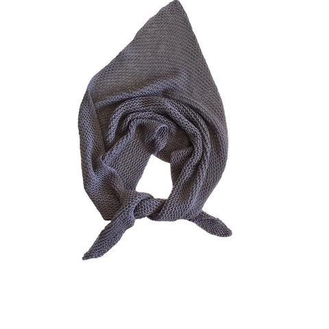 """Merino knitted """"V"""" scarf"""