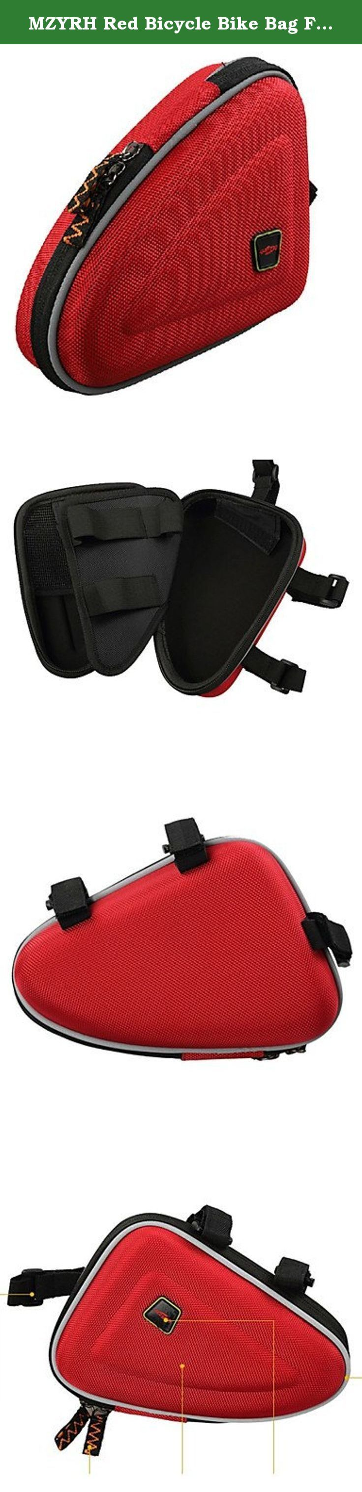 MZYRH Red Bicycle Bike Bag Front Tube Triangle Frame Bag. Activity:Cycling, Occasion:Outdoor, Material:EVA, Color:Red, Function:Water Bottle Pocket, Dimension (L¡ÁW¡ÁH) (cm):22.0 x 7.0 x 16.0, Net Weight (kg):0.198, Type:Bike Frame Bag, .
