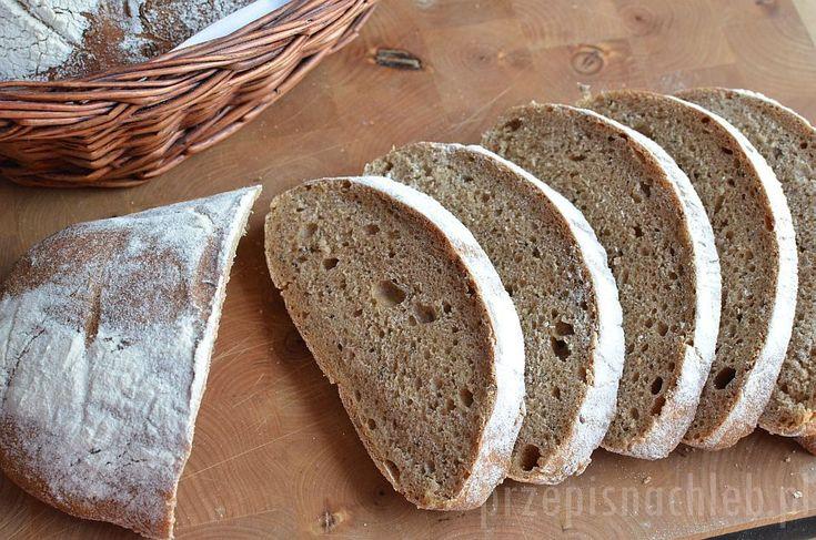 Chleb zdecydowanie dla fanów kminku. Jest to chleb z przewagą mąki pszennej, ale na żytnim zakwasie. Ciemnego koloru nadaje mu głównie melasa. Bardzo łatwo się go wyrabia i – jak na chleb na zakwasie – dość szybko rośnie. Przypomina mi bardzo popularny w Czechach chleb kminkowy :-) Składniki Zaczyn Składniki na zaczyn wymieszać dokładnie i […]