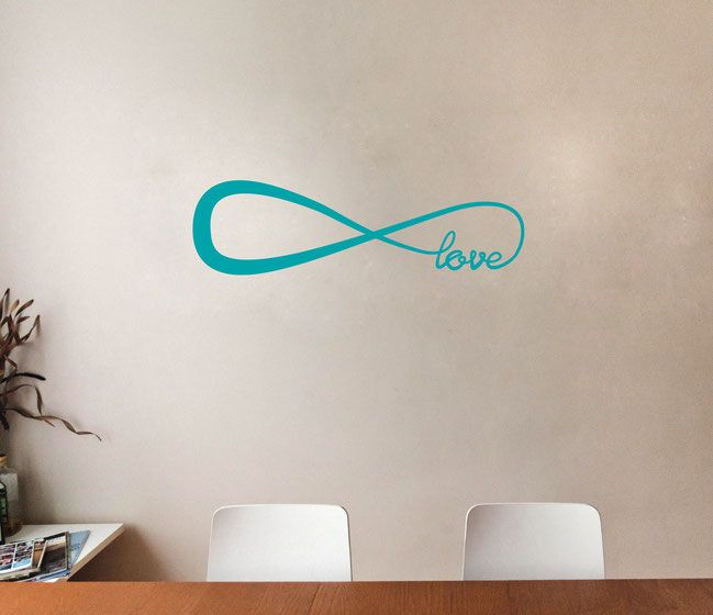 Infinity Love Symbol Vinyl Wall Art Decal From Www.wallartcompany.co.uk  Comes