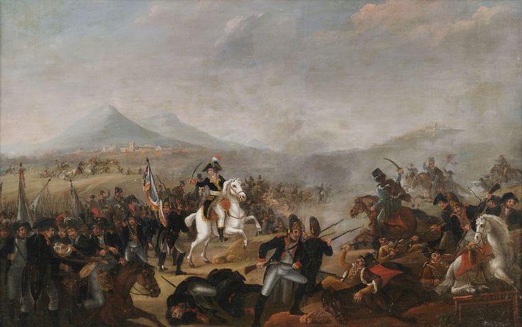 Jean-Simon Berthelemy (circle): Napoleon in the Battle of Maringo