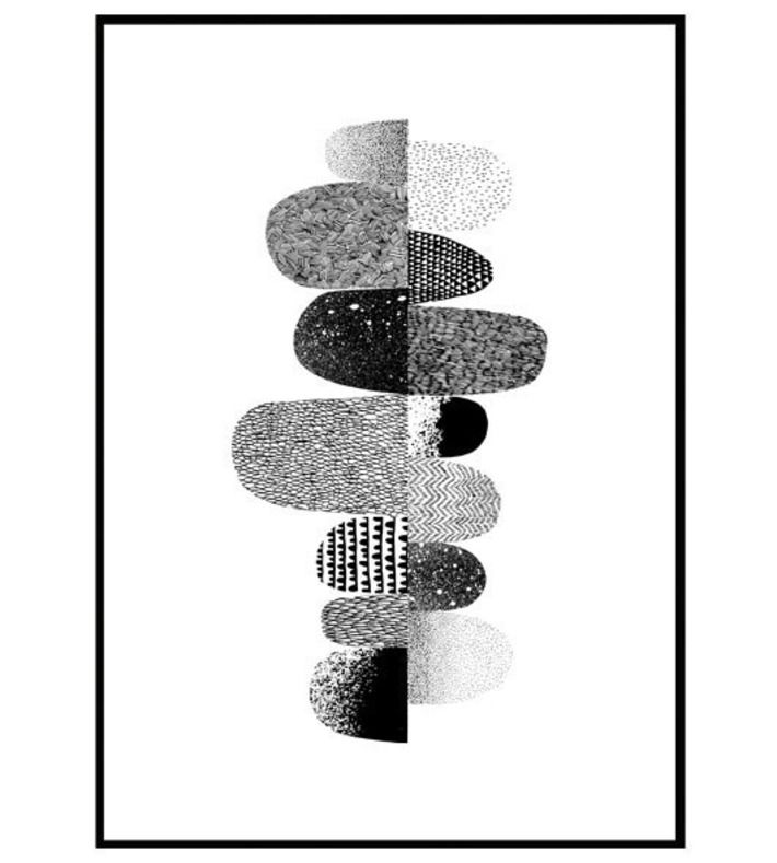 Illustration made by FuugaCph. An illustration where textures on leaves are illustrated with a simple graphic expression. You can buy this piece here: www.artrebels.com #artrebels #blackandwhite #art