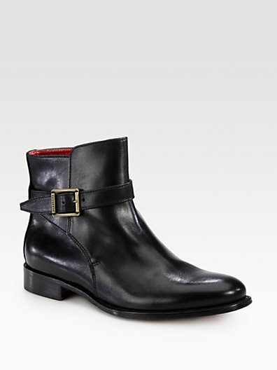 Burberry - English Heritage Ashcombe Leather Ankle Boots - Saks.com