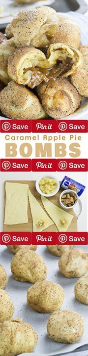 Caramel Apple Pie Bombs These awesome Caramel Apple Pie Bombs are the easiest dessert recipe (or at least Apple pie recipe) youve ever made and they are insanely Ingredients Baking & Spices 1 tbsp 8 tbsp.chopped apples from apple pie filling 1 Cinnamon sugar mixture Bread & Baked Goods 1 8 oz. can Crescent rolls refrigerated Desserts 8 Unwrapped caramel candies