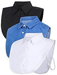 New Satinior 3 Pieces Fake Collar Detachable Dickey Collar Blouse Half Shirts Collar online. Find the perfect Marmot Tops-Tees from top store. Sku OAFZ53744YDSK77060