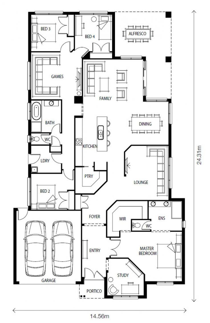 283 best House plans images on Pinterest | House floor plans ...