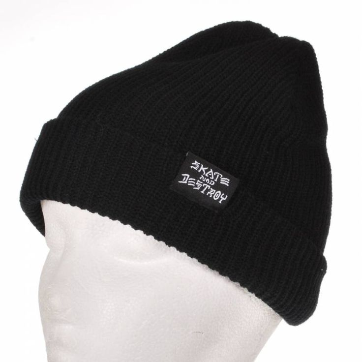 Thrasher Skate And Destroy Beanie - Black