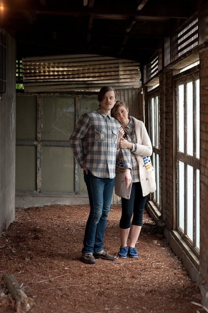on him: double pocket shirt in Washougal plaid / on her: knockabout cardigan, shot courtesy of Shop AdornPortland Collection, Knockabout Cardigans, Pocket Shirts, Shots Courtesy, Shops Adornment, Washougal Plaid, Double Pocket