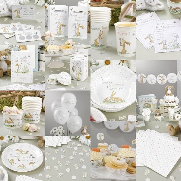 Guess How Much I Love You Unisex Baby Shower Decorations Party Neutral Tableware