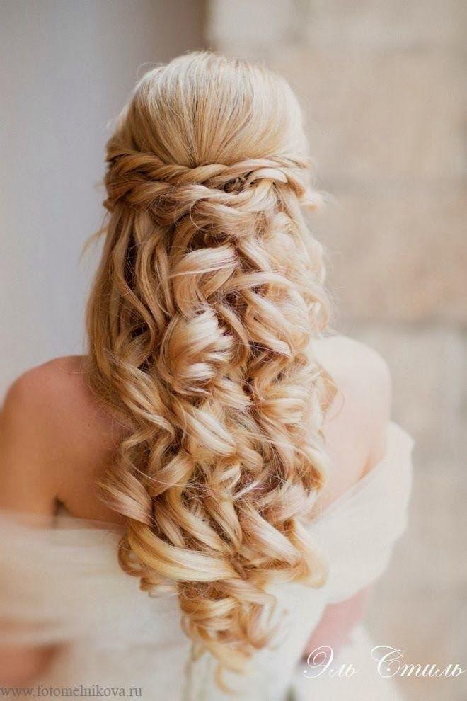 bröllopsfrisyrer mellanlångt hår - Sök på Google