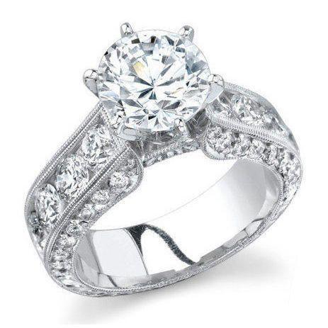 ctw-round-diamond-millegrain-engraved-6-prong-diamond-engagement-ring ...